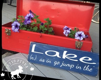 Lake Sign // Cottage Sign // Cottage Decor // Jump in the Lake Sign // Lake Decor // Humour Sign