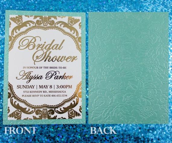 Gold Embossed Wedding Invitations: Gold Foil Embossed Invitation Peony Wedding By MomentidiVita