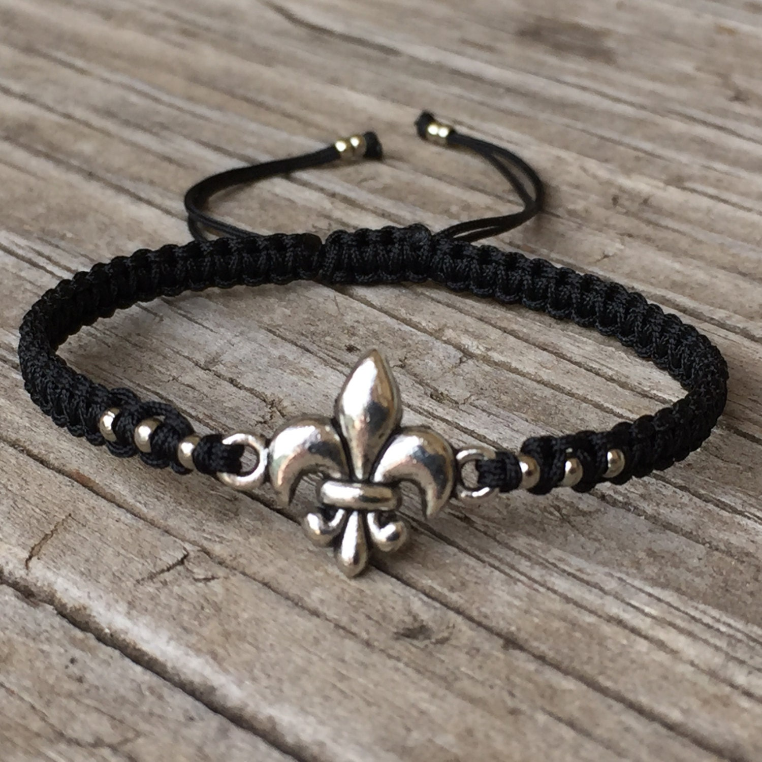 fleur de lis bracelet fleur de lis anklet adjustable. Black Bedroom Furniture Sets. Home Design Ideas