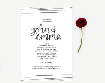 Wedding Ceremony Program // Just my Type