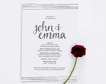 Wedding Ceremony Program // Just my Type // DIGITAL DOWNLOAD