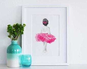 Little Annie Ballerina Print