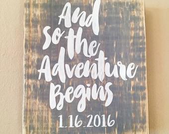 Wedding Adventure sign