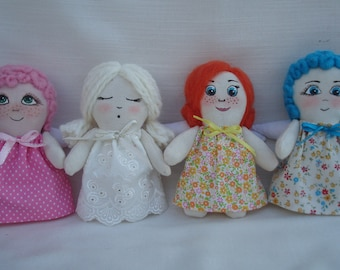 """Soft toy """" Angel """" Hand painted ."""