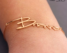 Personalized name bracelet, custom name jewelry gift, gold gift for her, baby name bracelet, gift for new mommies, choose your font
