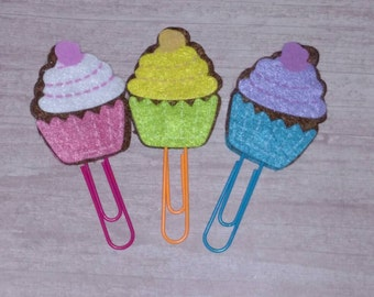 Glitter cupcake planner clip Sparkly Cup Cake by kerrlakegifts