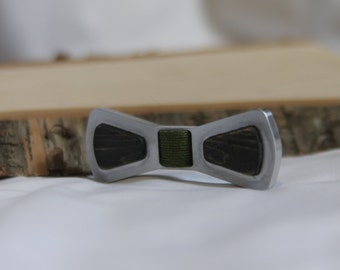 Aluminum and Wood Bow Tie