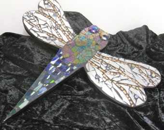 Dragonfly, wall hanging,Decoration,plaque, mirror.Mosaics