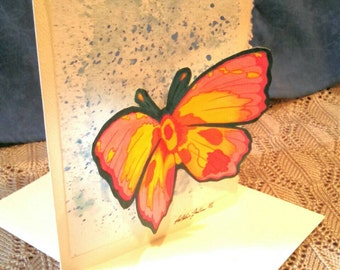 3D blank greeting card hand painted
