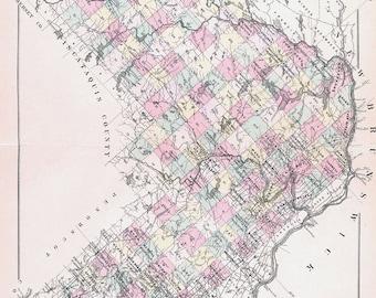 1887 Map of Aroostook County Maine
