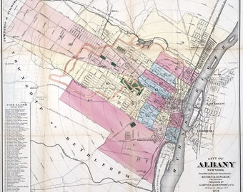 1874 Map of Albany New York
