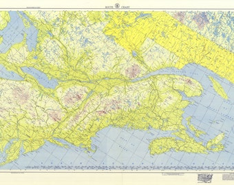 1953 Nautical Map of US & Canada East Coast