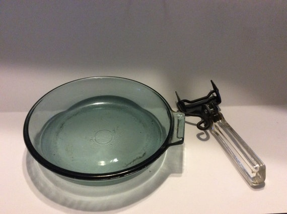 Vintage Pyrex Glass Frying Pan With Detachable Handle
