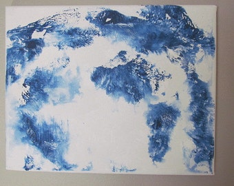 Original Abstract Painting Stretched Canvas 10x8