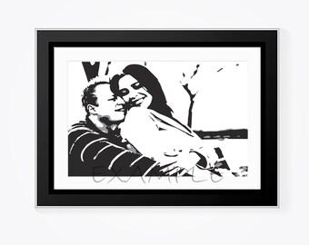 Custom, Personalized Print- Black and White Digital Print