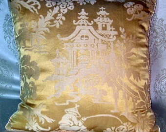 Emperor's Collection-Yellow Silk in  Chinoiserie