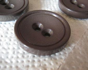 18 piece coat buttons Brown, diameter ca. 32 mm, new, Lübeck button Manufactory