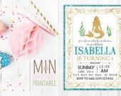 Mermaid Party Invite_6,Mermaid Invitation, Mermaid invite, Mermaid Birthday, Printable Kids Birthday Invitation,MERMAID PARTY
