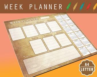Printable Weekly Yoga Fitness Planner Mandala planner