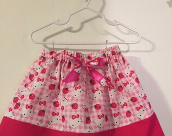 Hello Kitty 2, 3, and 4T skirt