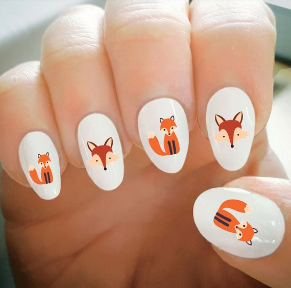 Fox Nail Designs: Nail Decals Fox Nail Decals Water Transfer Nail DecalsNail