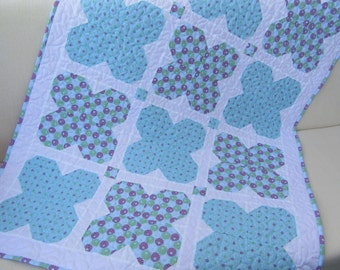 Baby quilt, girl quilt