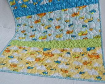 Baby quilt, baby blanket, stroller blanket