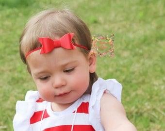 Leather Bow/Baby Headband/Baby Bow Headband/Bow Hair Clip/Red Vegan Leather Bow/Red Bow Headband/Red Bow Hair Clip/Red Leather Bow/Red Bow