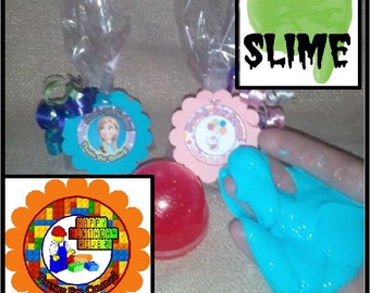 """Personalized Lego Surprise """"slime"""" Birthday Party Favors - set of 8"""
