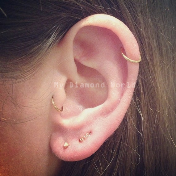 20g cartilage earrings 20g gold cartilage earring helix ring hoop 3135