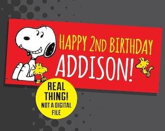 Snoopy Birthday Banner - Snoopy Birthday