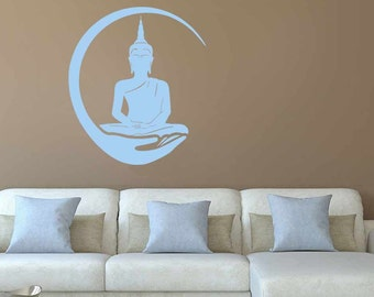 Buddha Wall Sticker, Yoga Lounge Home Wall Art Mural Decal