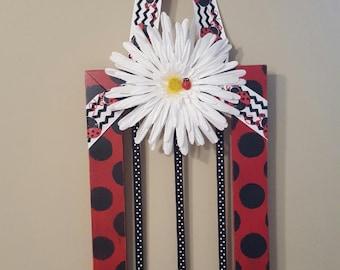 Ladybug Bow Holder