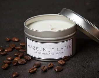 Hazelnut Latte Scented Soy Candle in Travel Tin