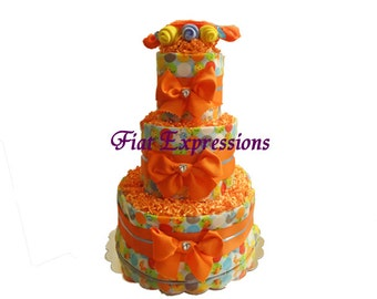 Ant 3 Tier Diaper Cake- BABY NEUTRAL