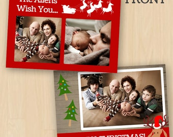 Christmas Card PSD Template
