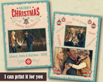Photo Christmas Cards, Holiday Card Templates, Custom Christmas Card, Christmas Cards With Family Photo, Diy Christmas Card, Xmas Photo Card
