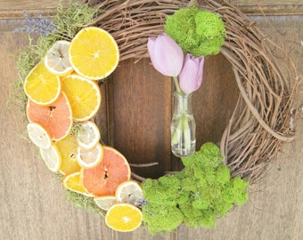 Spring citrus door wreath mother's day special!