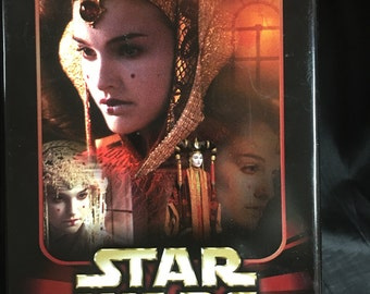 Star Wars Memorabilia, 115 collector cards, tin, storage box, Episode I, advertising.