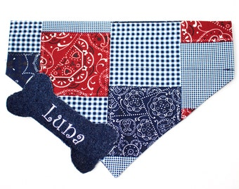 Patchwork Dog Bandana