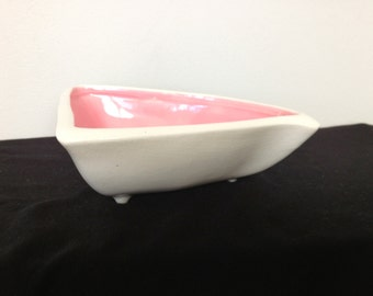 Vintage Christine's California Pottery Footed Bowl