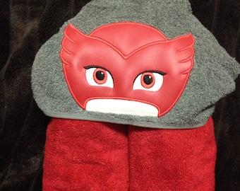 Bedtime Hero Owl Hooded Towel