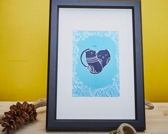 Cat Lovers - Limited Silkscreen Art Print