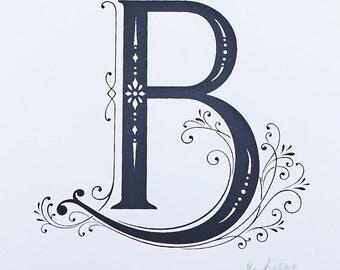 Letter B - Limited Silkscreen Art Print