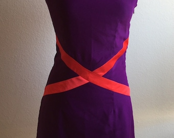 Purple Dress Block with Red