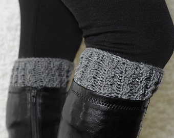 Knitting Pattern - Faux Cables Boot Cuffs // Oh What Love