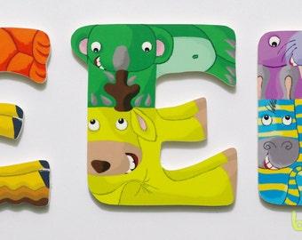 Wood alphabet letter E