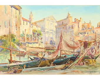 A. Mathis (1873-1940), Un port à Martigues
