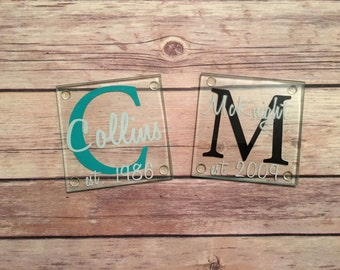 Customized Coasters-Great addition to any home and perfect gift for anyone. Set of 2!