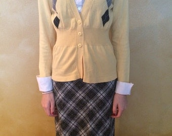 Cardigan and Skirt Ensemble